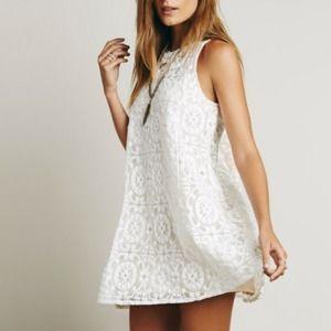 Free People | Wallflower Lace Tent Dress L